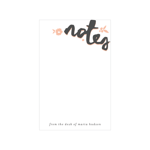 handlettered notes notepad