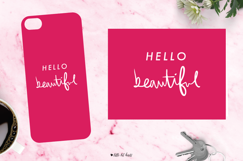 hello beautiful - pink collection