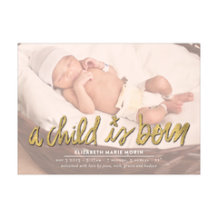 A Child Is Born Holiday Photo Card