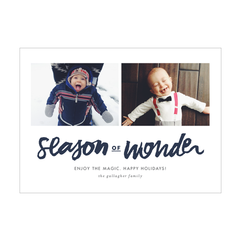 Season of Wonder Holiday Photo Card