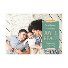Washi Joy & Peace Holiday Photo Card