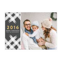 Watercolor Year Holiday Photo Card