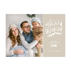 Winter Wishes Holiday Photo Card