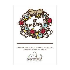 Be Merry Wreath Holiday Card