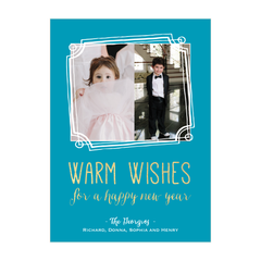 Doodle Frame Holiday Photo Card