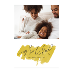 Grateful Holiday Photo Card
