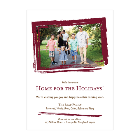 New Home For The Holidays Photo Card