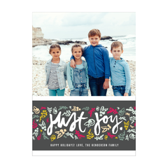 Just Joy Holiday Photo Card