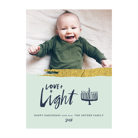 Love & Light Holiday Photo Card