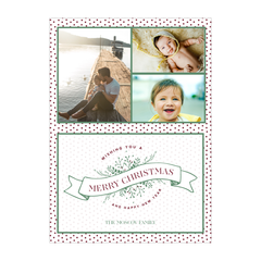 Polkadot Holly Holiday Photo Card