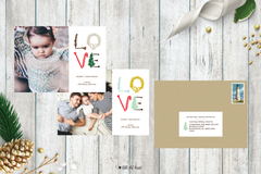 Illustrated Love Holiday Photo Card