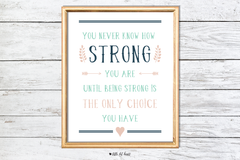 how strong art print - pink collection