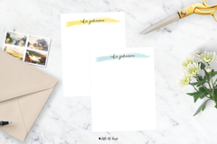 watercolor stripe stationery