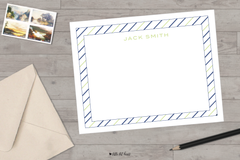 striped border stationery