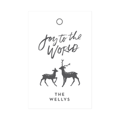 Winter Deer Wine Tags
