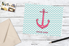 chevron anchor stationery