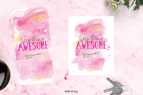keep being awesome - pink collection