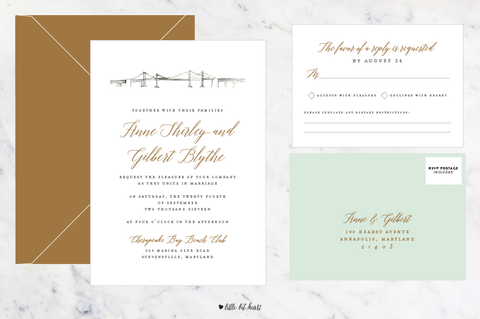 Landmark Collection - Customizable Wedding Invitation Set
