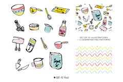 Handdrawn Baking Illustrations