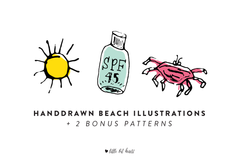 Handdrawn Beach Illustrations