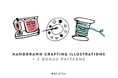 Handdrawn Crafting Illustrations