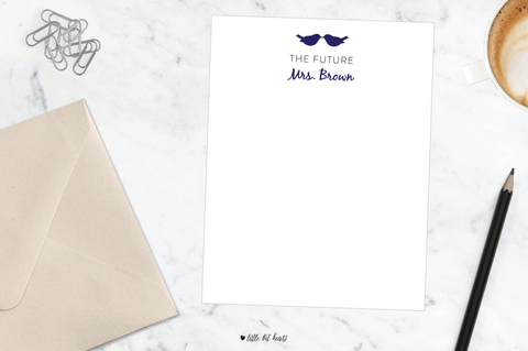 lovebirds future mrs. stationery