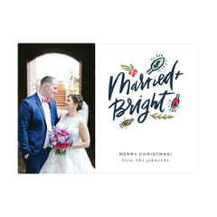 Married and Bright Holiday Photo Card