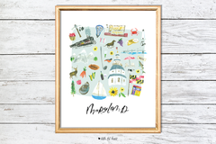 maryland illustrated art print