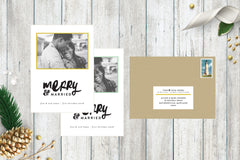 Merry & Married Holiday Photo Card