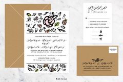 Modern Botanic - Customizable Wedding Invitation Set