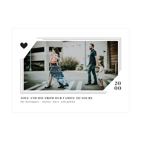 Modern Love Holiday Photo Card