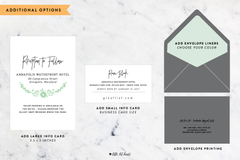 Mod Fleur - Customizable Wedding Invitation Set