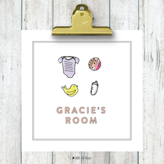 mod nursery custom kids art print