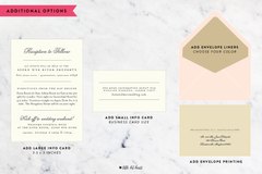 Monogram Collection - Customizable Wedding Invitation Set