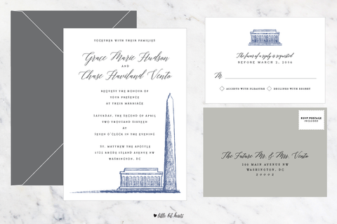 Monument - Customizable Wedding Invitation Set