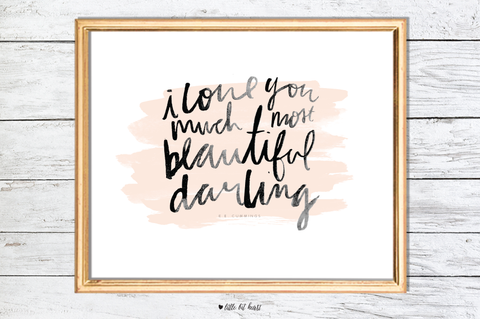 beautiful darling art print - pink collection