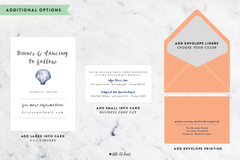 Nautical Collection - Customizable Wedding Invitation Set