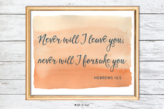 never will i leave you art print - pink collection