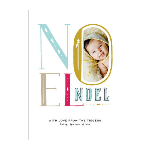 Noel Holiday Photo Card