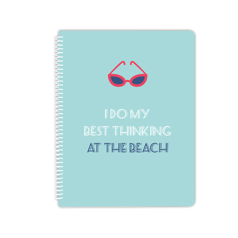 beach thinking notebook