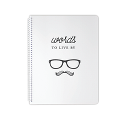 words to live by notebook