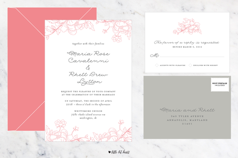 Peony - Customizable Wedding Invitation Set