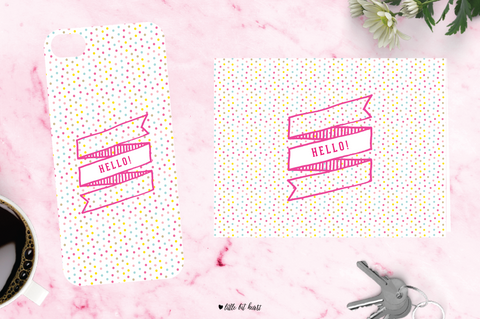 polkadot hello - pink collection