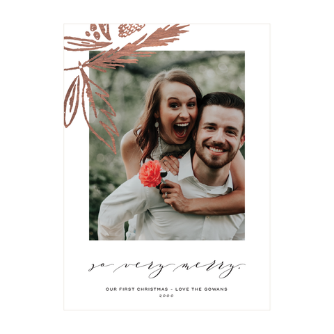 So Very Merry Holiday Photo Card