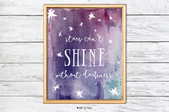 stars can't shine art print - pink collection