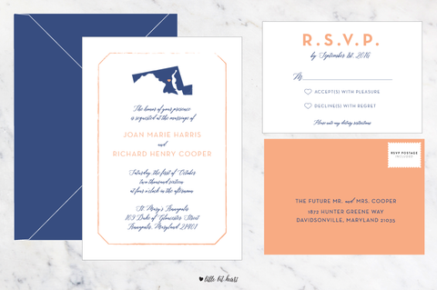 State Love - Customizable Wedding Invitation Set