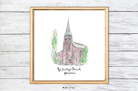 st. mary's church art print