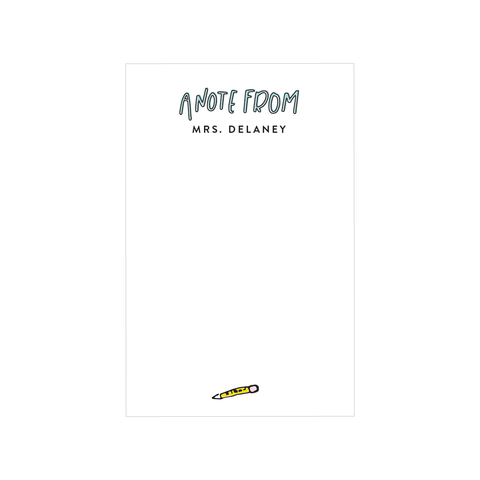 school note notepad