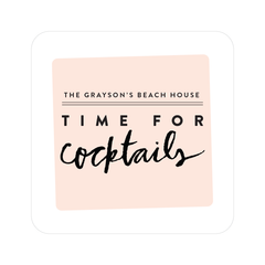 time for cocktails coasters