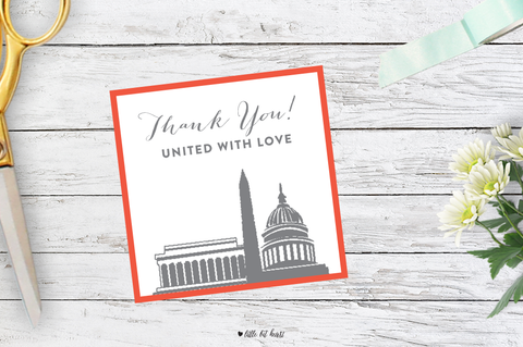 united with love dc favor tags